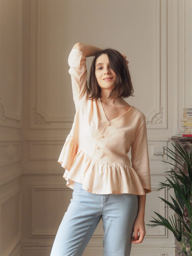 blouse-basque-rose-poudré-aime-comme-marie / couture blog estelle some place called home